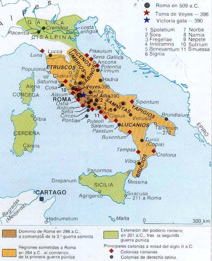 Historia Antigua Mapas de Roma